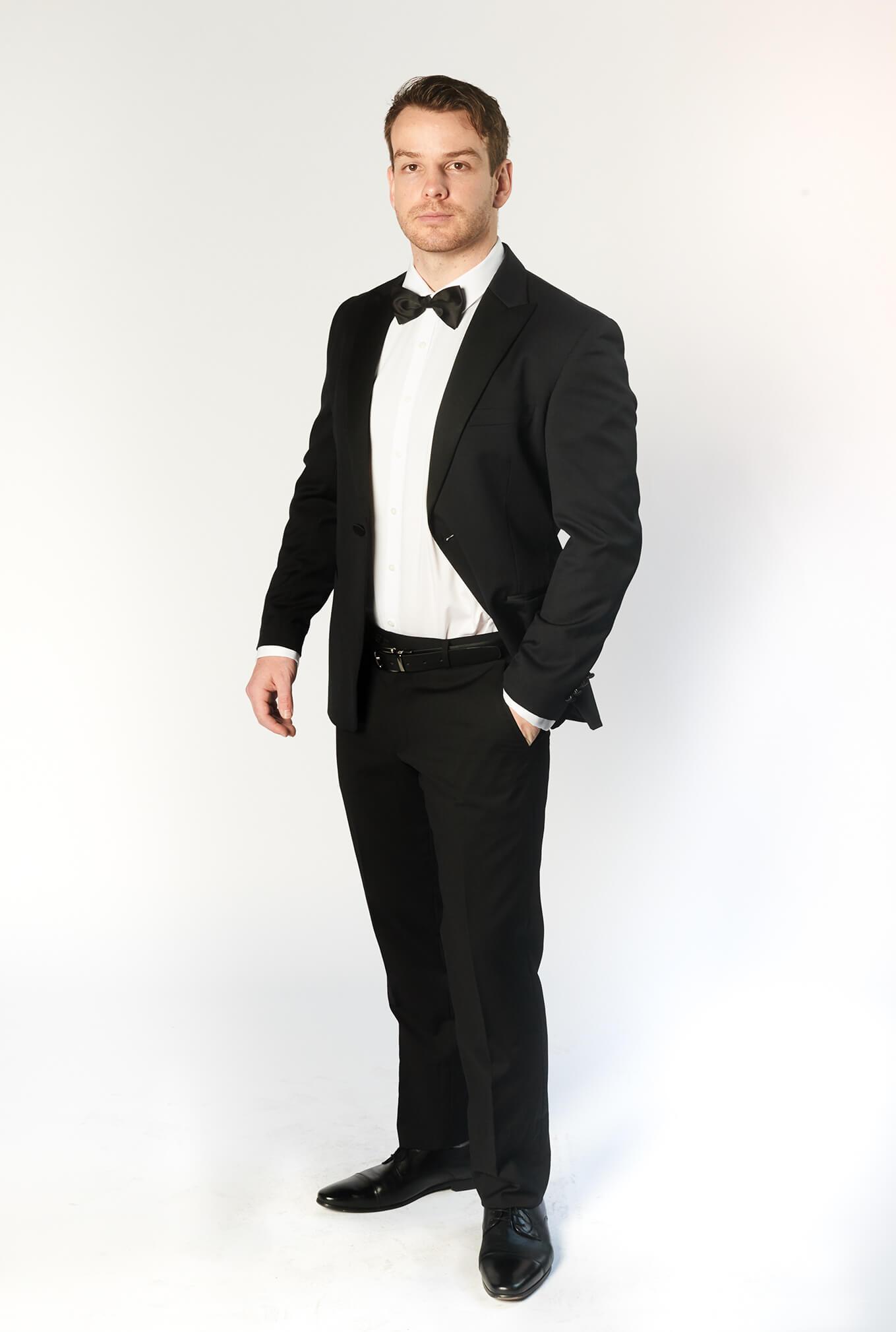 The Oxford tuxedo with satin peak lapel