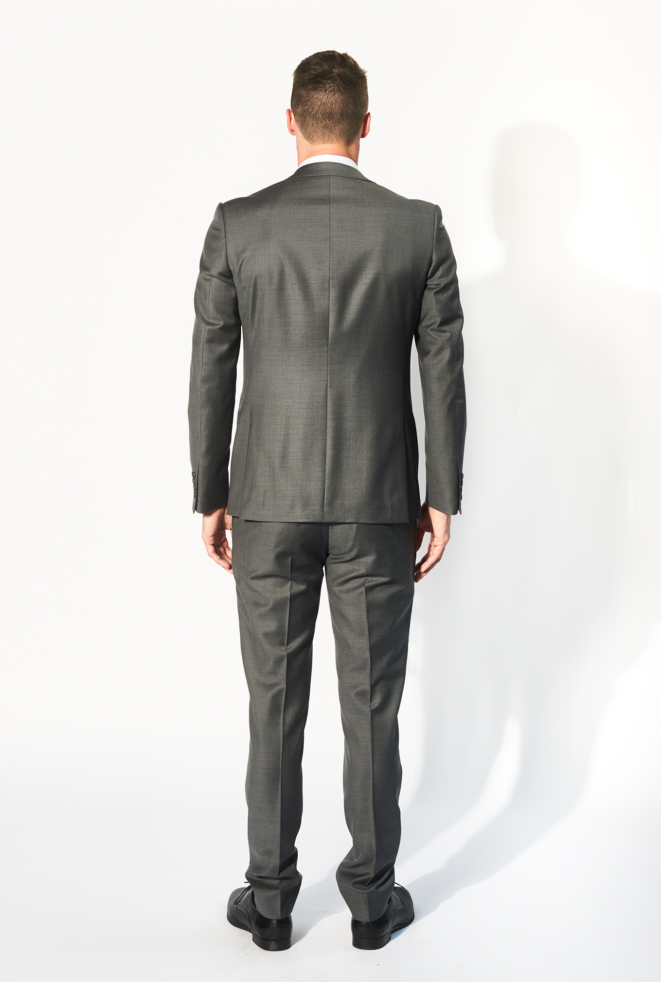 The Daniel grey suit back view