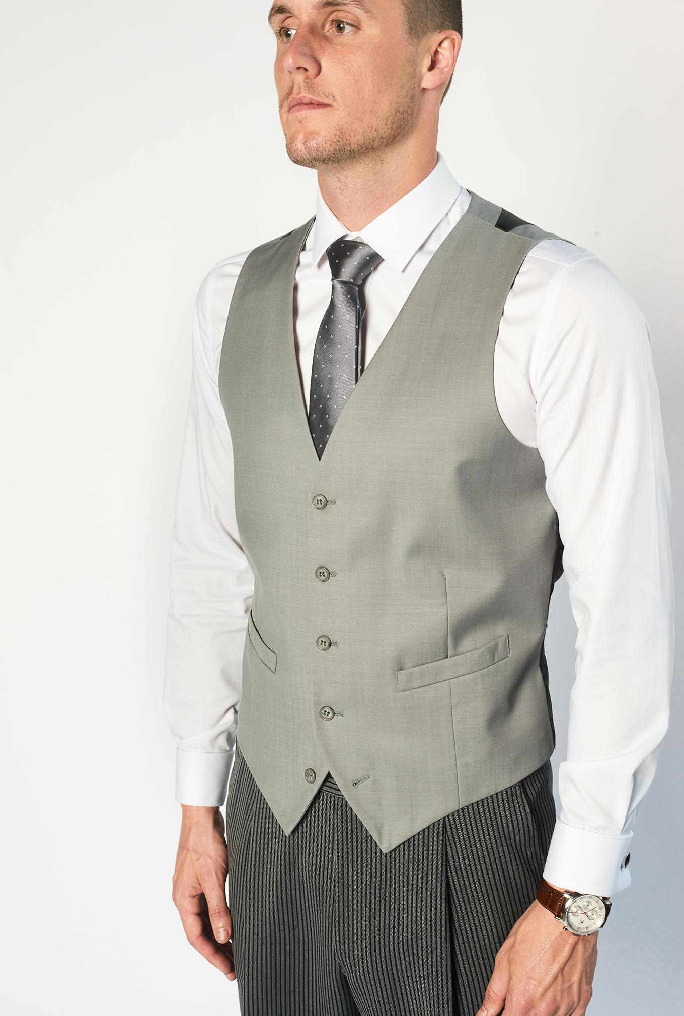 The Morning suit grey vest