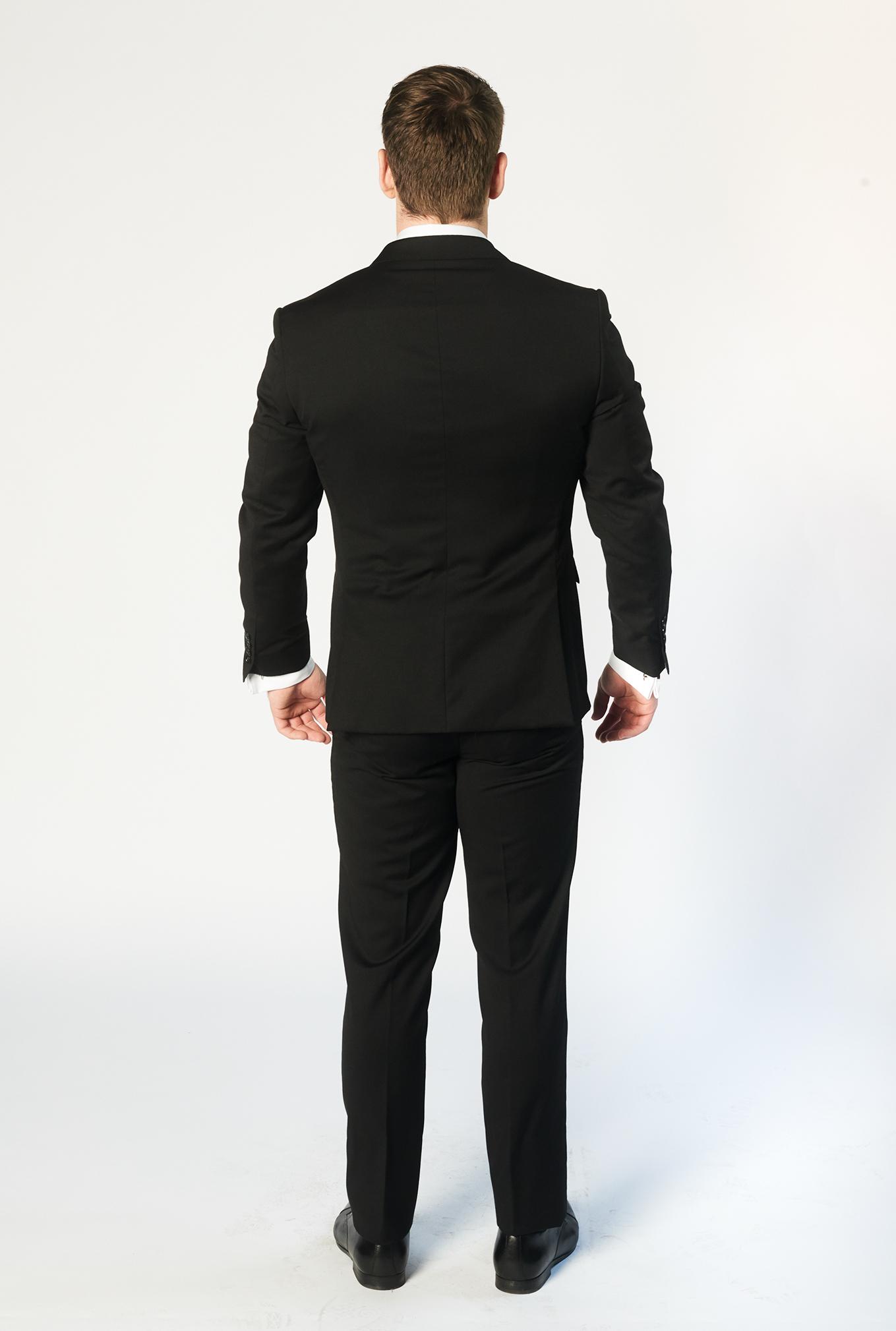 The Cambridge black suit back view