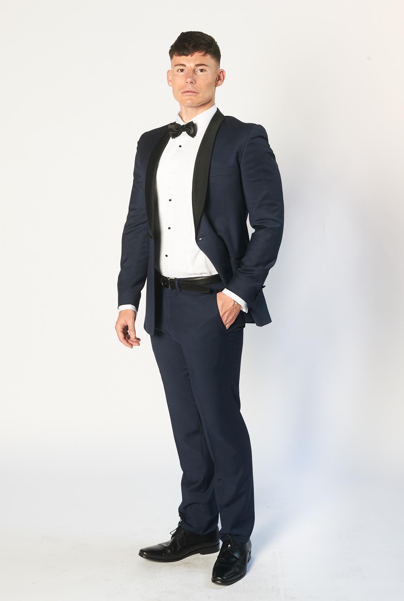 The Bond tuxedo side view