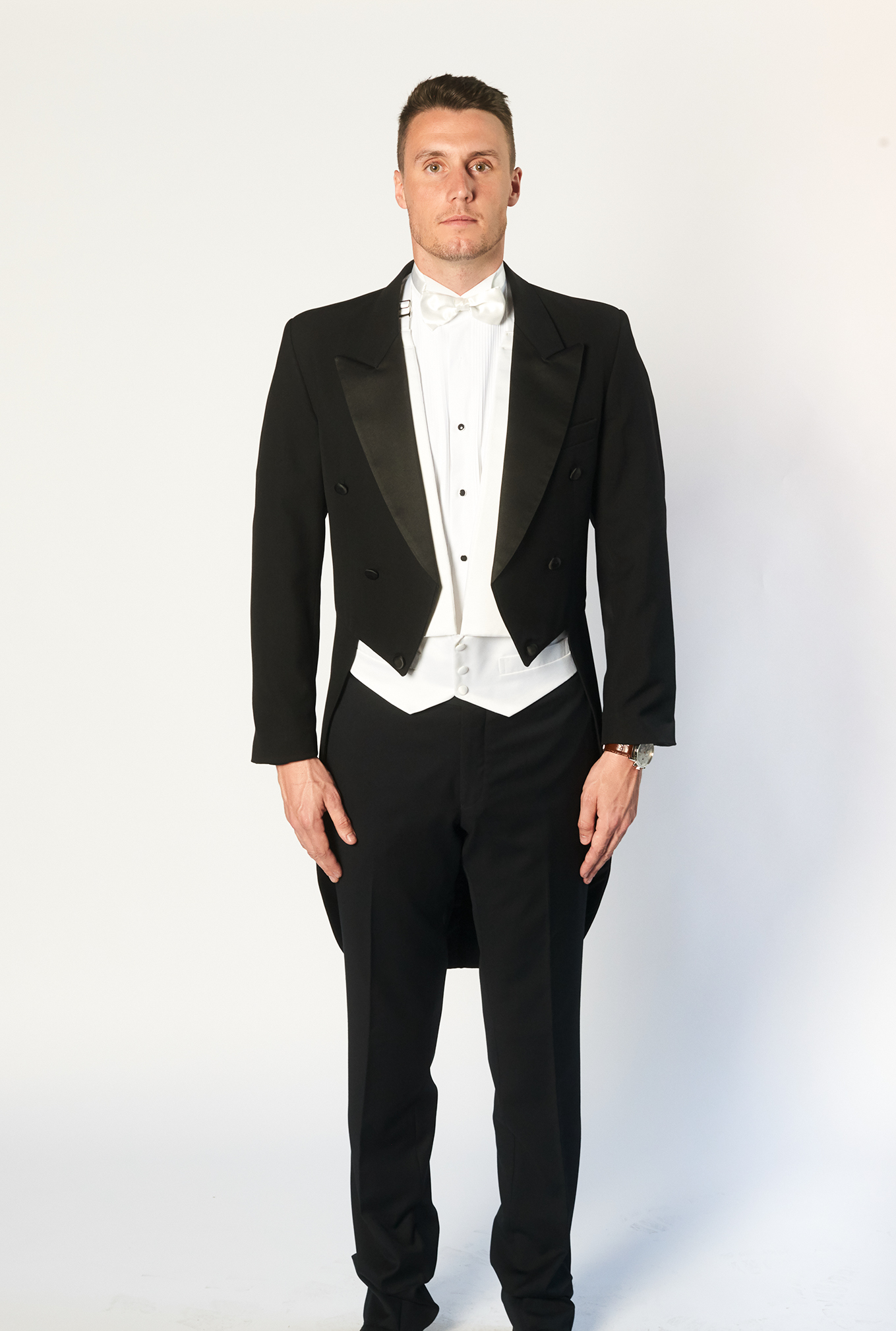 The Tails black suit from Britton's Formal Wear